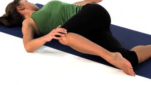 Lying twist for back pain relief