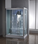 Steam shower for back pain relief