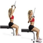 doing back pain exercises- Close grip pull downs