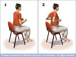 do 5 to 10 times of shoulder blade squeeze for back relief